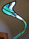1-10 Витраж на потолке коридора, витражный потолок - Витражные потолки, витражи на потолок (потолочные витражи)