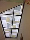 1-11 Витражный потолок с фантазийным рисунком в холле - Витражные потолки, витражи на потолок (потолочные витражи)