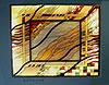 1-16 Витражный потолок, абстрактный рисунок, техника «Тиффани» - Витражные потолки, витражи на потолок (потолочные витражи)