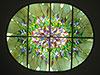 1-17 Витраж со сложным цветочным орнаментом - Витражные потолки, витражи на потолок (потолочные витражи)