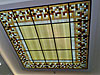 1-33 Потолочный витраж с подсветкой - Витражные потолки, витражи на потолок (потолочные витражи)