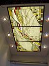 1-39 Абстрактный витраж «Золотая сеть» - Витражные потолки, витражи на потолок (потолочные витражи)