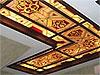 1-4 Кессонный потолок в объемном алюминиевом каркасе - Витражные потолки, витражи на потолок (потолочные витражи)