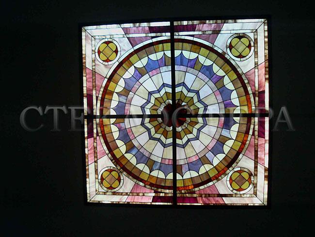 Витражные потолки, витражи на потолок (потолочные витражи). Элитный интерьер с витражными плафонами