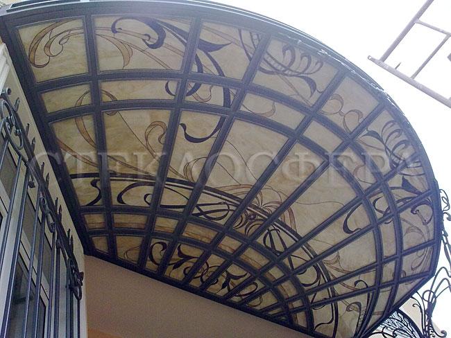 Витражные потолки, витражи на потолок (потолочные витражи). Витражный потолок с художественным стеклом
