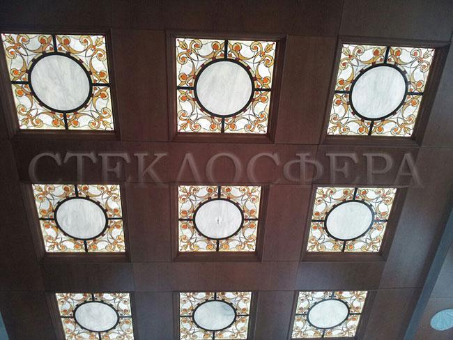 Витражные потолки, витражи на потолок (потолочные витражи). Витражный потолок в кабинете руководителя