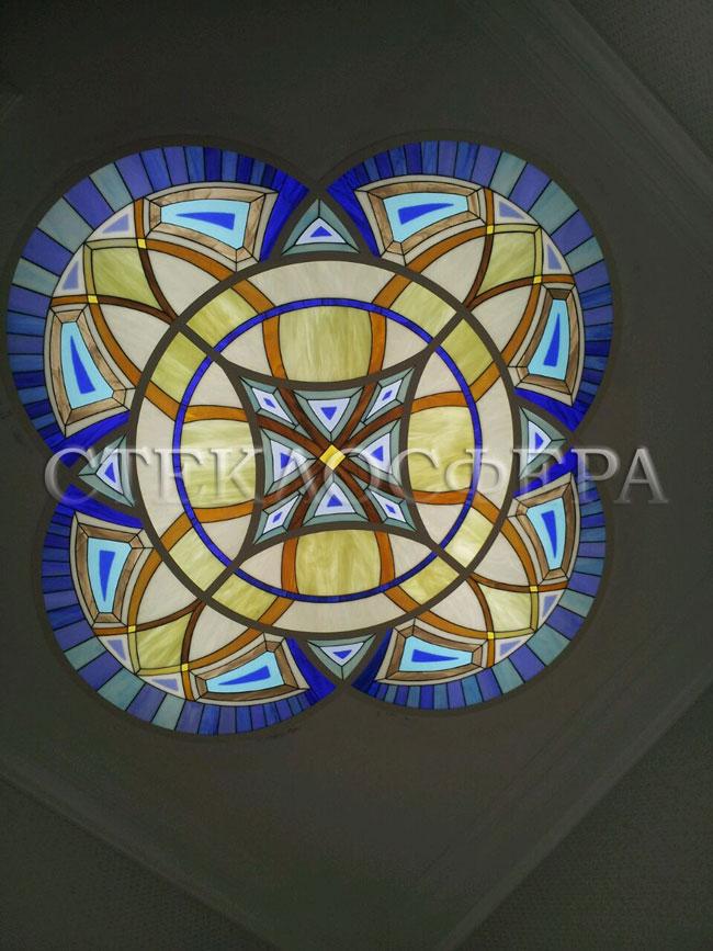 Витражные потолки, витражи на потолок (потолочные витражи). Витражный потолок в стиле «Готика»