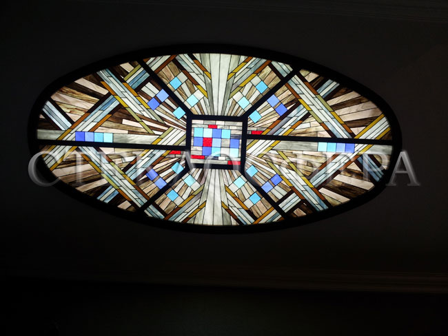 Витражные потолки, витражи на потолок (потолочные витражи). Витражный потолок в стиле «Лофт»