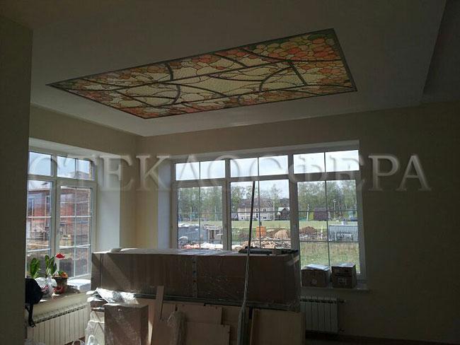 Витражные потолки, витражи на потолок (потолочные витражи). Витражный потолок в классическом стиле
