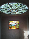 1-65 Витражный потолок в стиле «Итальянская классика», классический витраж - Витражные потолки, витражи на потолок (потолочные витражи)