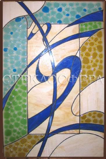 Оформление ниши, витраж в нишу, дизайн ниши в стене. Современный витраж «Ветер перемен»