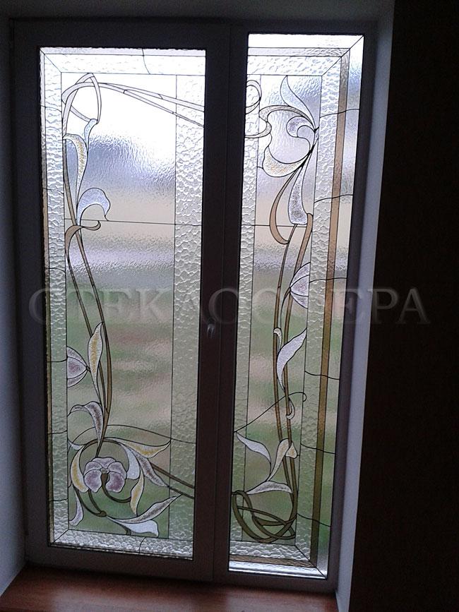 Витражи на окна. Купить витражные окна в Москве. Художественный витраж на окно