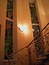 4-40 Витражи «Город на скалах», оконный витраж - Витражи на окна. Купить витражные окна в Москве