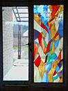 4-41 Абстрактный витраж в современном стиле - Витражи на окна. Купить витражные окна в Москве