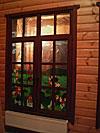 Витражное окно «Луг» с комбинацией стекол - Витражи на окна. Купить витражные окна в Москве