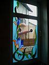 4-48 Классический витраж из цветного стекла - Витражи на окна. Купить витражные окна в Москве