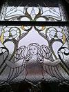 4-58 Витражное стекло с художественным рисунком, витражное окно - Витражи на окна. Купить витражные окна в Москве