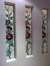 4-25 Витражный триптих «Розы», витражи на заказ в Москве - Витражи на окна. Купить витражные окна в Москве