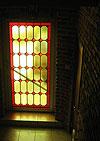 4-16 Французское витражное окно с геометрическим орнаментом и фацетами - Витражи на окна. Купить витражные окна в Москве