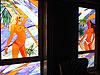 4-8 Витражные вставки «Пляж», купить художественный витраж - Витражи на окна. Купить витражные окна в Москве