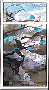 4-12 Оконный витраж «Сакура», купить витражи на окна - Витражи на окна. Купить витражные окна в Москве