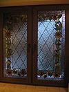 4-15 Окно с художественным витражом «Подсолнухи» - Витражи на окна. Купить витражные окна в Москве
